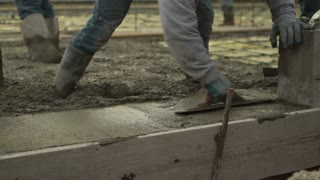 Smoothing Newly Poured Concrete