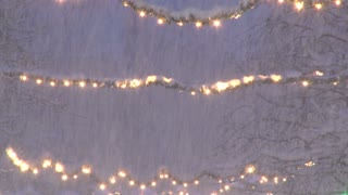 Snow And String Lights