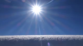 snow and sunshine background