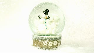Snow Falling Around Snowglobe