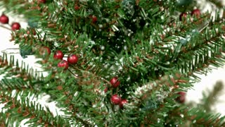 Snow Falling Softly on Christmas Tree 1