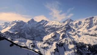 snow mountain panorama. mountain peak. alps glaciers. aerial view