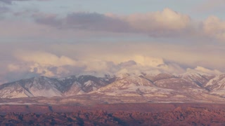 Snow Peak Mountain Sunset Timelapse