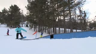 Snowboarder on table top 6