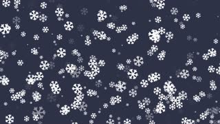 Snowflakes Falling  Blue Background