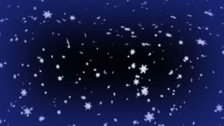 Snowing Particles Night