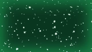 Snowing Paticles Green