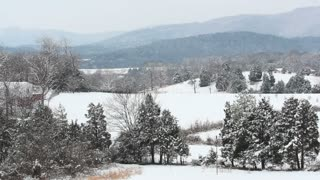 Snowy Countryside Landscape