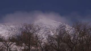 Snowy Landscape in Utah Timelapse