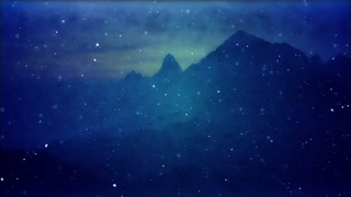 Snowy Mountain. Winter Wonderland Christmas Background