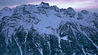 Snowy mountains in winter