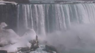 Snowy Niagara Falls