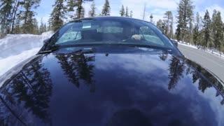 Snowy POV Car Timelapse