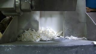 Soap Shavings Enter Conveyor Belt