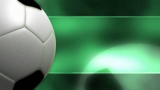 Soccer Ball Banner Green