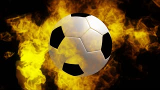 Soccerball On Fire