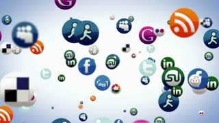 Social Media Floating Bubbles