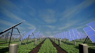 Solar farm animation