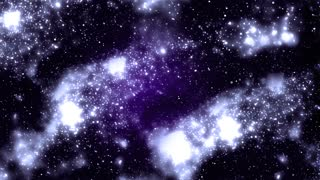 Space nebula - moving in space