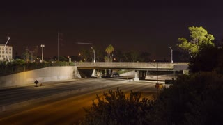 Space Shuttle Crosses the 405 Freeway