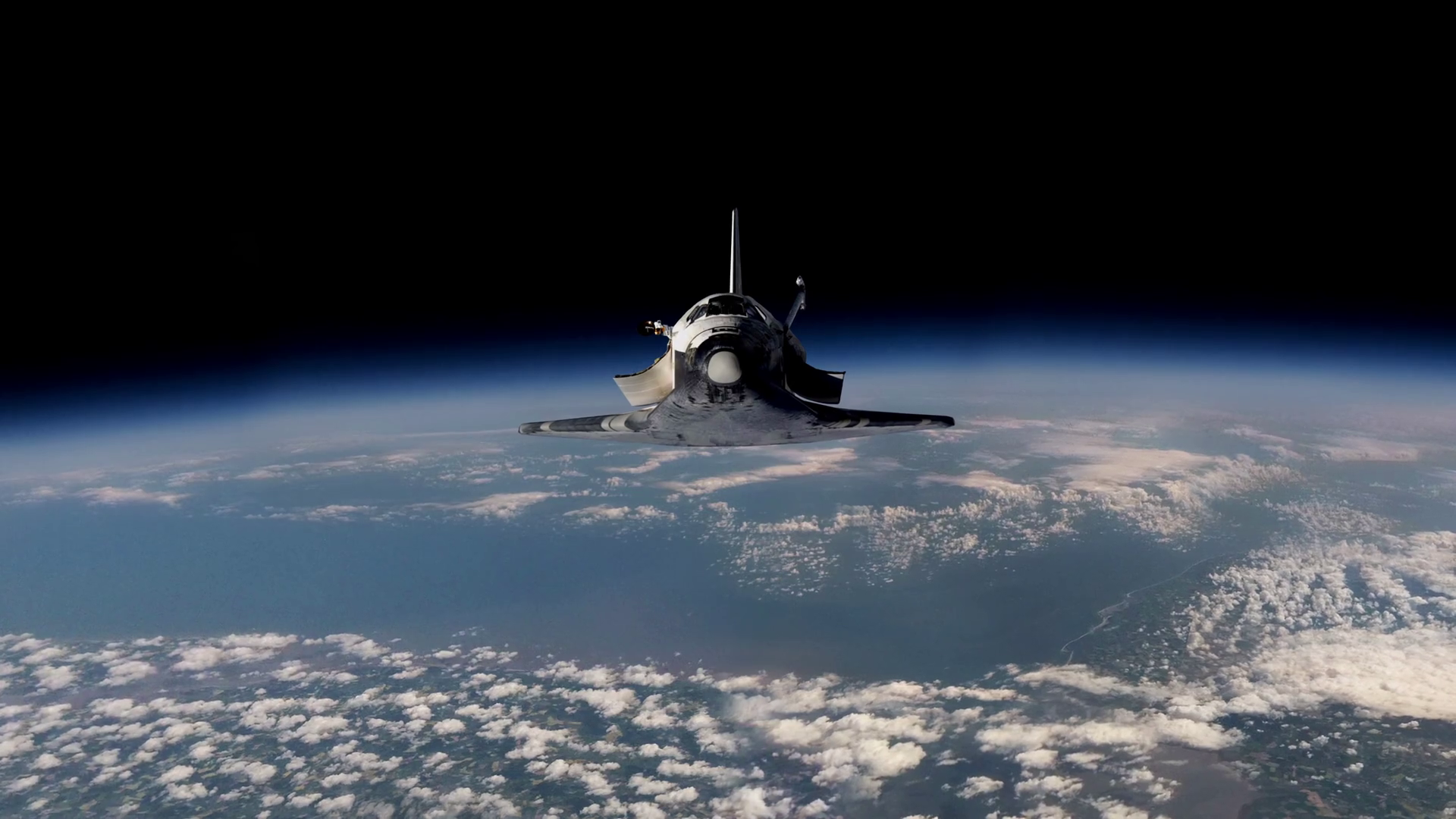 Space Shuttle Floats In Space Perfect Of Computer Graphics Videos About Space Earth Orbit Iss The International Space Station Astronauts Nasa And Discovery Motion Background Storyblocks