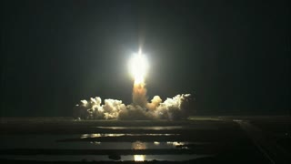 Space Shuttle Lift Off from a Distance