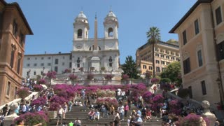 Spanish Steps and the Triniti dei Monti Church 2