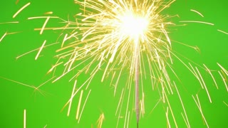 Sparklers on the Green Screen