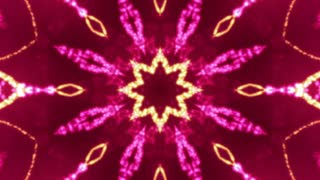 Sparkling Flower Kaleidoscope Red