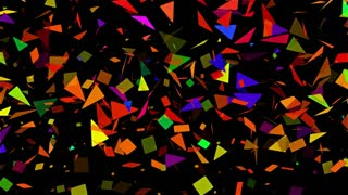 Sparse Multi Colored Abstract Mosaic Background Loop