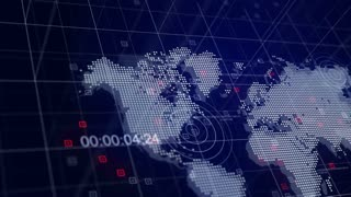 Special Report 3D Broadcast Animation Blue World Map Background 4K