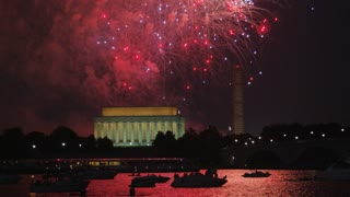 Spectacular Fireworks Display In DC
