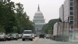 Speeding Traffic Outside US Capitol Timelapse