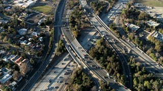 Spinning Above Freeway Overpass