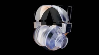 Spinning Abstract Headphones