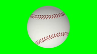 Spinning Baseball Green Screen