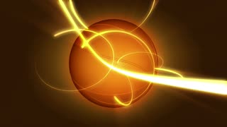 Spinning Basketball Ball & Gold Beam