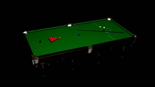 spinning billiard and red ball