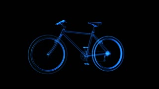 spinning blue bikes transparent
