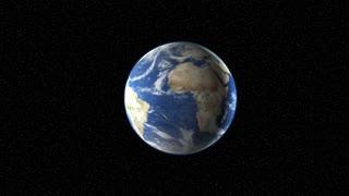 Spinning Blue Globe