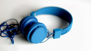 Spinning Blue Headphones