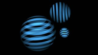 Spinning blue light ball