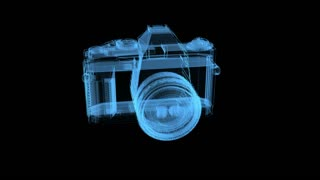 spinning blue light camera digital transparent