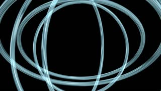 spinning blue light circle
