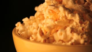 Spinning Bowl of Popcorn Zoomed In