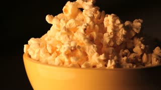 Spinning Bowl of Popcorn Zoomed Out