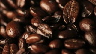 Spinning Coffee Beans Close Up