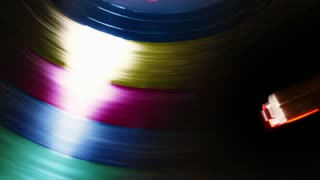 Spinning Colorful Record Player
