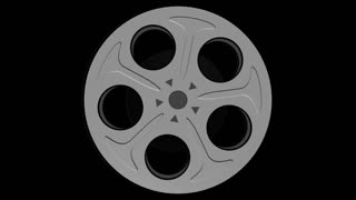 Spinning Film Reel Alpha Channel 2