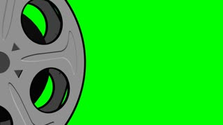 Spinning Film Reel Green Screen 3